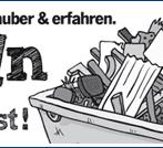 Anzeigengestaltung Abfallbeseitigung Containerdienst