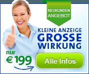 Anzeigengestaltung für Neukunden nur EUR 199