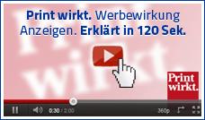 Print wirkt. Werbewirkung / Anzeigenwerbung erklärt in 120 Sekunden