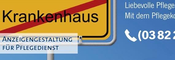 Anzeigengestaltung für Pflegedienst Pflegekombinat.de