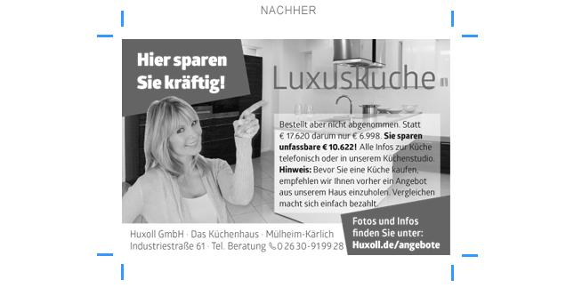 neue Anzeige Küchenhaus Huxoll
