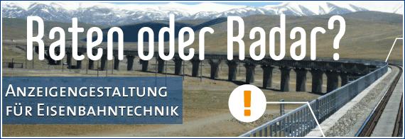 Anzeigengestaltung Eisenbahntechnik Geophysik Georadar