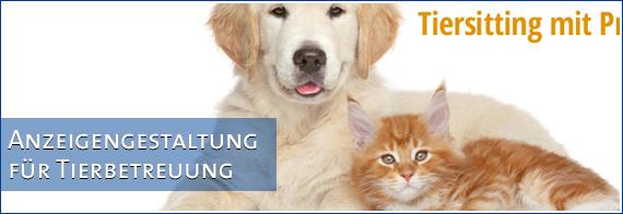 Anzeigengestaltung für Tierbetreuungsservice