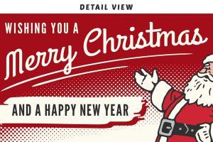 Weihnachtsanzeigen Motivvorlagen