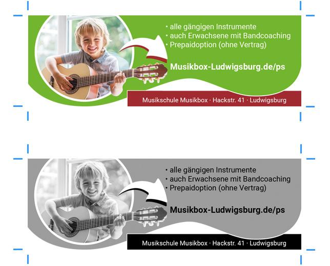 Anzeigenwerbung für eine Musikschule