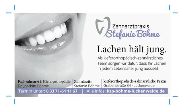 Anzeigengestaltung für Zahnärztin