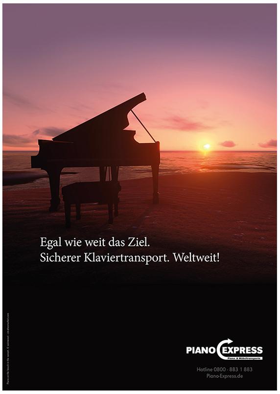 Anzeigengestaltung für Spedition Klaviertransporte/Möbeltransporte