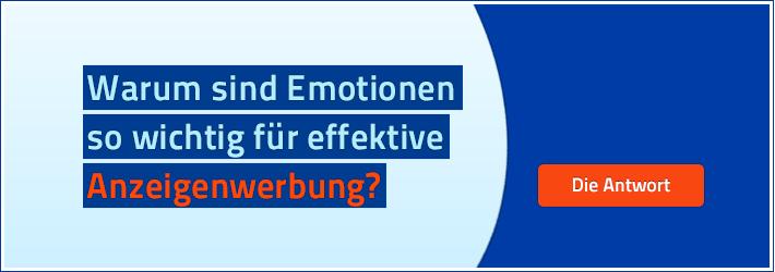Attraktive Anzeigengestaltung weckt positive Emotionen. Das wirkt!