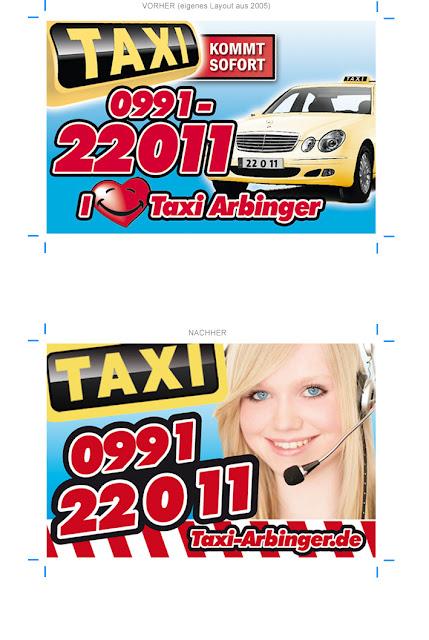 Das Örtliche Anzeigenbeispiel Taxi Unternehmen