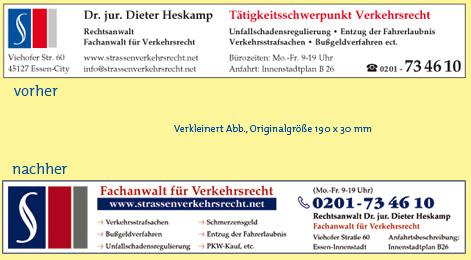 Anzeigenbeispiel Gelbe Seiten für Rechtsanwalt Fachanwalt Verkehrsrecht