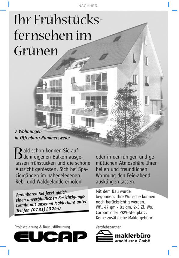 Immobilien Anzeigengestaltung für Bauträger Immobilienvertrieb