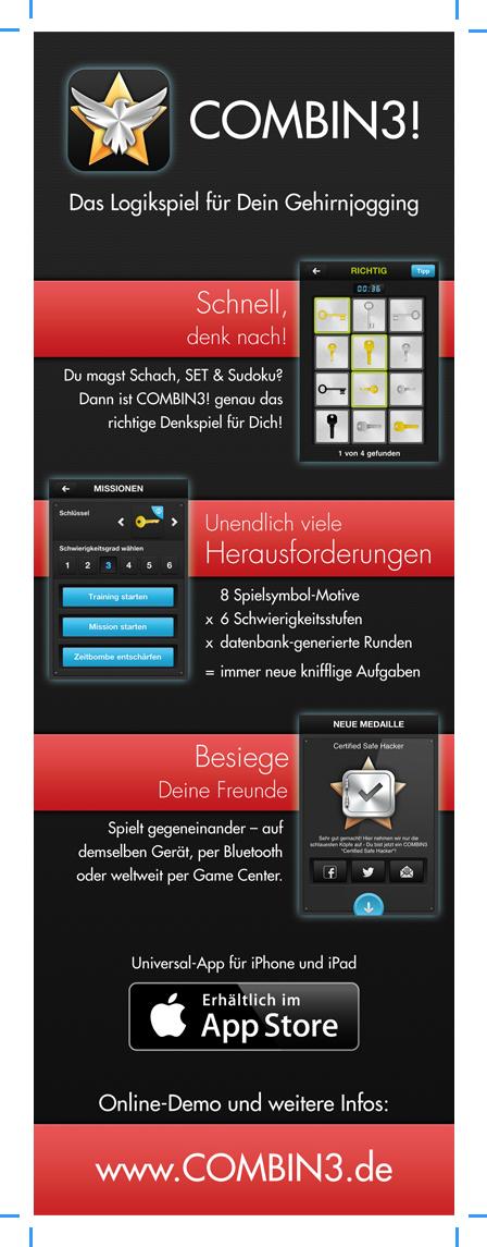 Combin3 App Zeitschriftenanzeige (vorher)